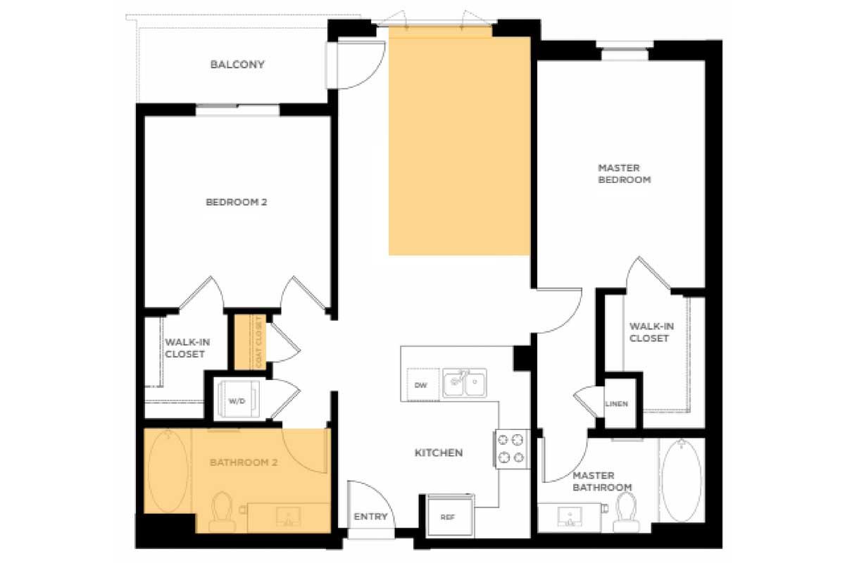 Converted floorplan
